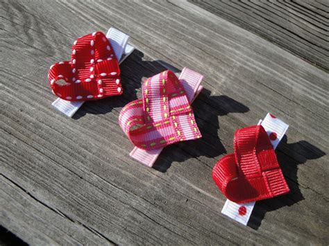 valentines hair bows valentines day clip maybe hair bows
