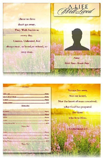90 Best Images About Funeral Program Template On Pinterest Program Template Funeral Order Of Poetry Website Templates