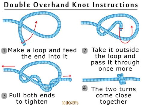 How To Make Knot - overhand stopper knot 101 knots