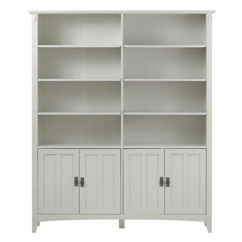 home depot white bookcase home decorators collection artisan white storage open