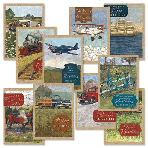 Gift Card Value - vintage travel birthday cards value pack current catalog