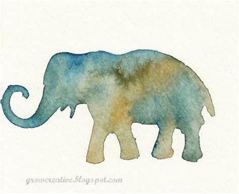 watercolor elephant tutorial grow creative blog stenciled watercolors tutorial