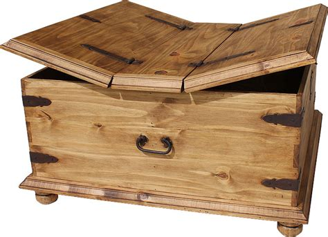 Middle Square Wooden Coffee Table with Storage