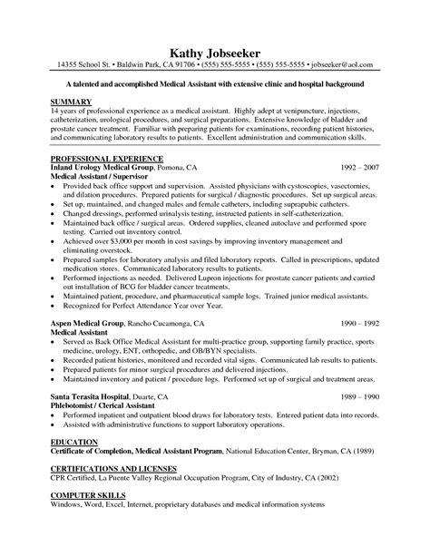 10 Medical Assistant Resume Tips   Writing Resume Sample
