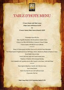 pin table dhote menu on