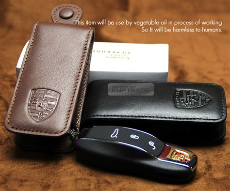 porsche pouch porsche logo lether car remote key holder cover pouch