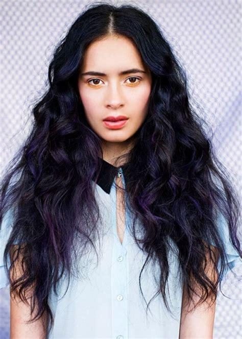 black hair color 35 bold and provocative purple hair color ideas