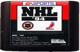 Kaset Cartridge Sega Nhl nhl 94 sega genesis database