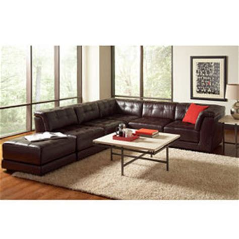 stacey leather sectional stacey leather 6 piece modular sectional from macys home