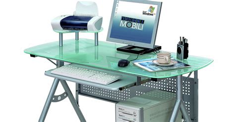 modern glass office desk glass desk modern glass desk