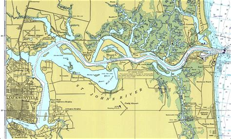 st river map st johns river map
