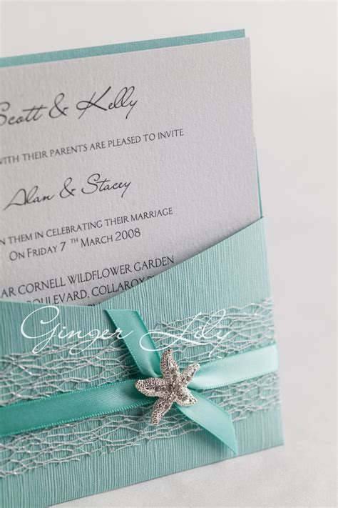 cheap aqua wedding invitations diy pocket wedding invitation kit reef
