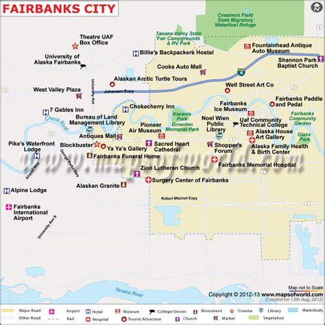 area code for alaska usa fairbanks city map map of fairbanks city alaska