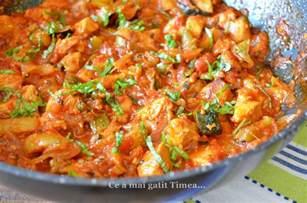 piept de pui in sos de rosii cu legume retete timea