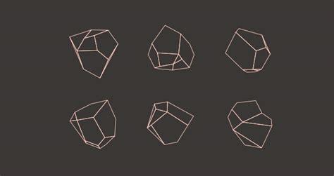 abstract  polygon vector shapes decorative vectors