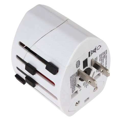 universal travel adapter 4 in 1 eu uk usa with 1a usb port white jakartanotebook