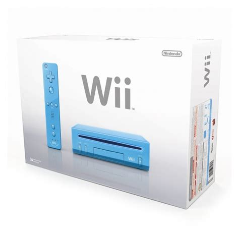 console wi nintendo wii blue console 187 fkn