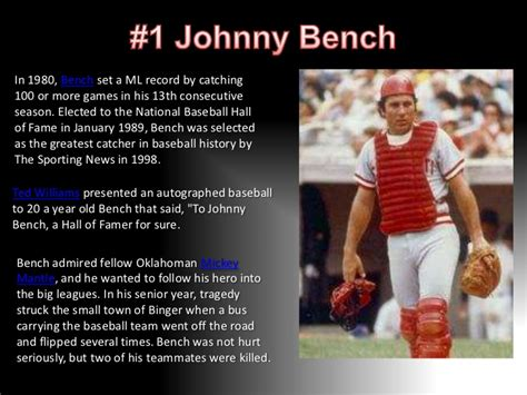 was johnny bench gay johnny bench quotes image quotes at hippoquotes com