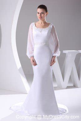Wedding Anniversary Dresses by Sleeves Scoop Neck Court Beaded 2013 Wedding