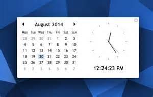 Small Desktop Calendar Free Desktop Calendar Clock App For Chrome And Chrome Os Omg
