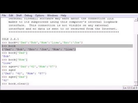 tutorial python dictionary python programming tutorial 19 dictionary youtube