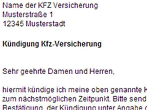 Kfz Versicherung K Ndigen Email by Kfz Versicherung K 252 Ndigen Vorlage Download Chip