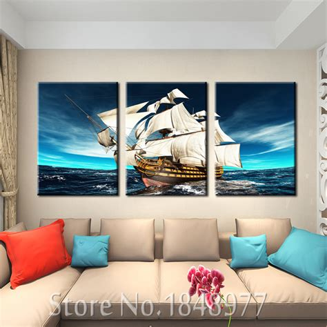 3 panel modern wall home decoration canvas painting