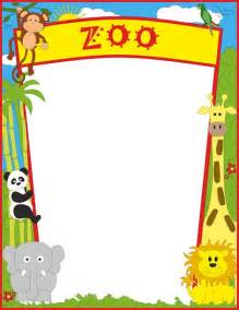a page border featuring zoo animals free downloads at