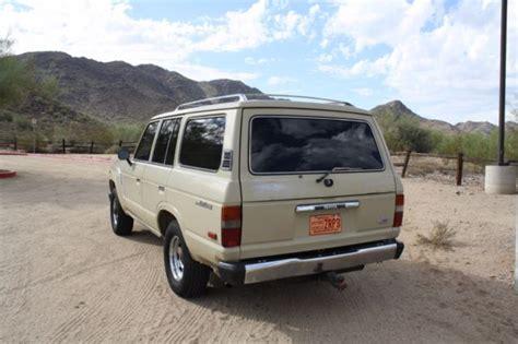 Toyota Az 1986 Toyota Land Cruiser Fj60 Az Truck Zero Rust For Sale