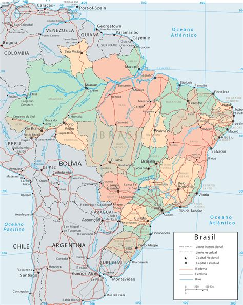 map of brazil with states brazil states map