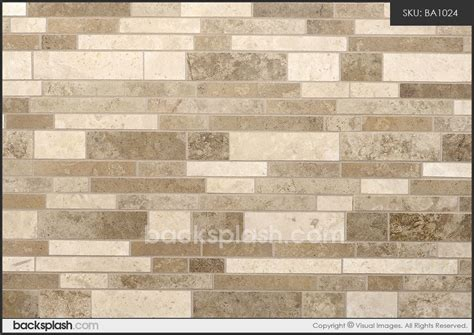 travertine subway mix backsplash tile