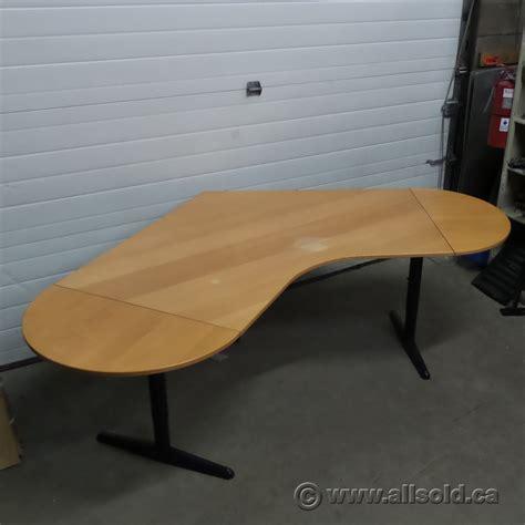 Maple V Shaped Corner Desk Workstation Table Allsold Ca V Shaped Desk