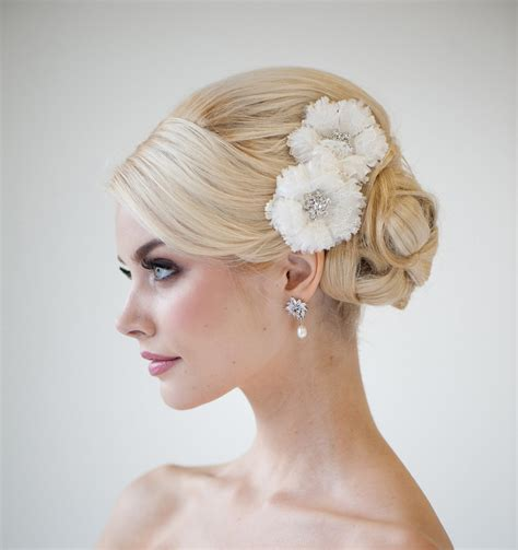 hair accessories for a wedding bridal silk flower hair clips wedding hair accessory bridal