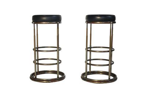 3ft bar stools machine age industrial bar stools a pair chairish