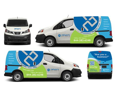 van graphics design bold professional graphic design for network builders it
