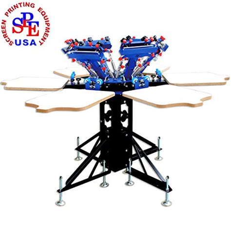 diy screen print india 6 color 6 station double wheel screen printing machine t
