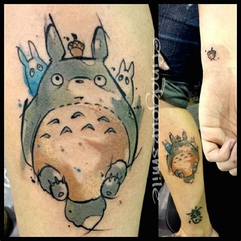 watercolor tattoo my neighbor totoro foreign things