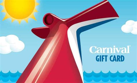Carnival Gift Card - carnival comes up with a great way to promote it s cruise line cruise hive