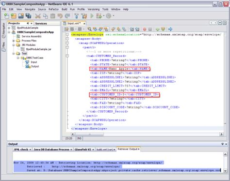 xml retrieval tutorial deploying and testing the composite application oracle