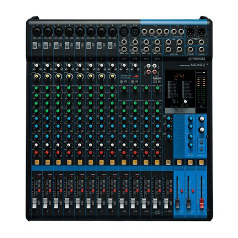 Mixer Audio Yamaha 16 Channel yamaha mg16xu 16 channel mixer w usb output fx pro