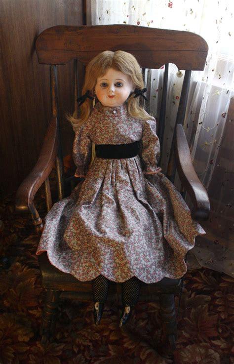 Paper Mache Doll - antique patent washable papier mache doll from