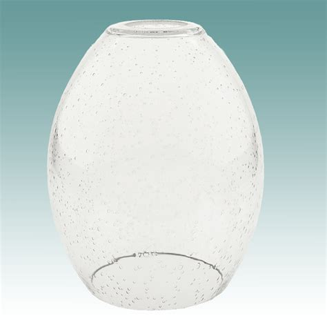 7916 clear seeded glass neckless shade glass lshades