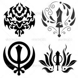tribal sikhism sign khanda sahib graphicriver