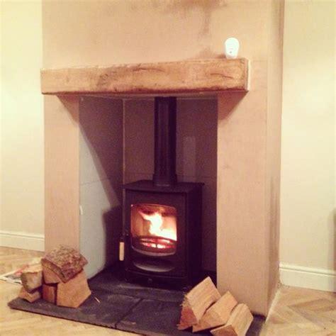 fabulous wood burning with false chimney breast ideas