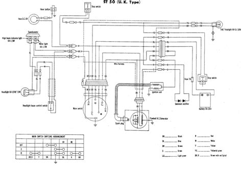 st50 wiring diagram for the uk or model honda st 50