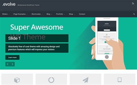 themes wordpress evolve 25 free wordpress business themes optimizer wp