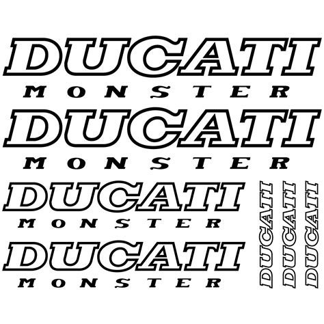 Monster Aufkleber Set Kawasaki by Wandtattoos Folies Ducati Monster Aufkleber Set