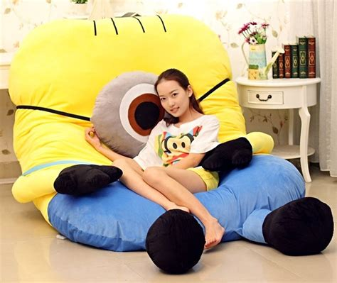 minion bed every night s a sleepover the giant minion bed geekologie