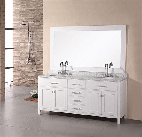 size bathroom white vanity