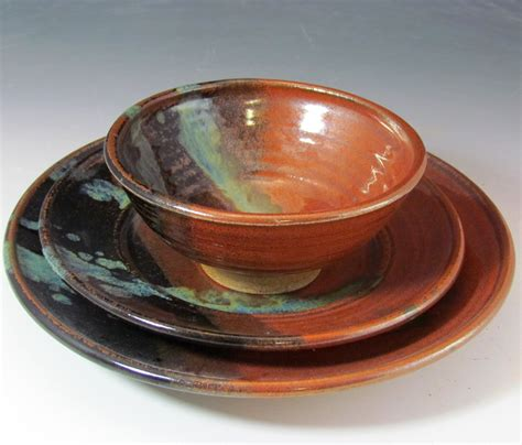 Pottery Dinnerware Handmade - pottery dinnerware set handmade for your wedding by claycoyote